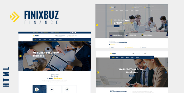 Finixbuz - Corporate & Financial Business HTML5 Template Free Download | Nulled