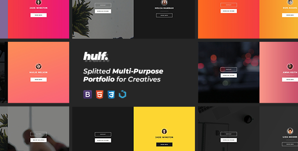 HULF — Splitted Multi-Purpose Portfolio for Creatives Free Download | Nulled
