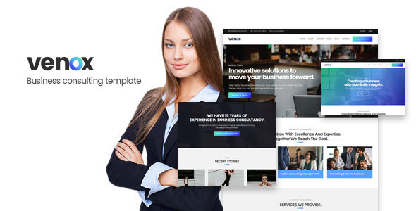 Venox - Business and Consulting HTML Template