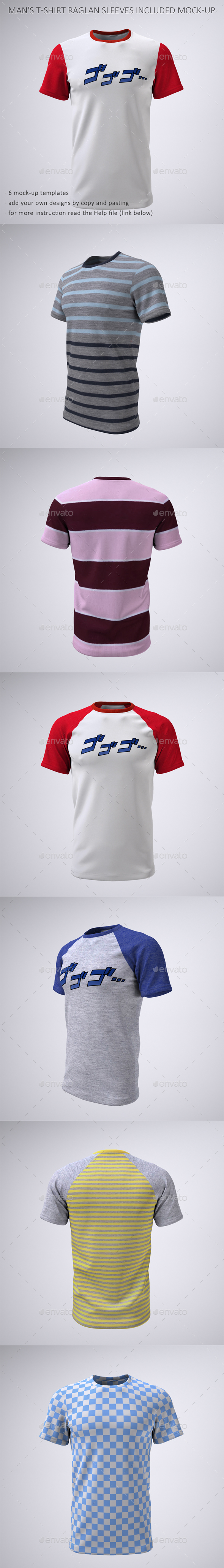 T-Shirt With Short or Raglan Sleeves Mock-Up - T-shirts Apparel