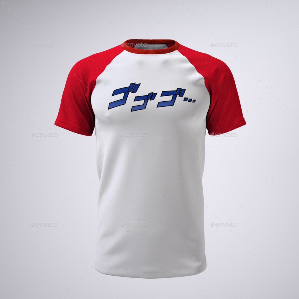 T Shirt With Short Or Raglan Sleeves Mock Up By Sanchi477