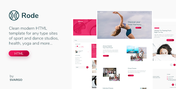 Rode - Yoga, Sport and Health HTML Template