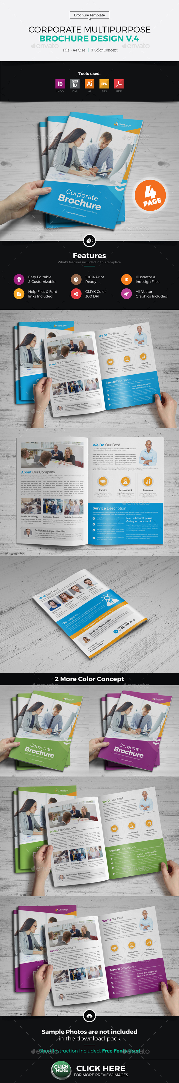 Corporate Multipurpose Brochure Design v4 - Corporate Brochures