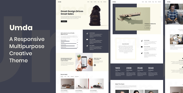 Umda - Responsive Multipurpose Creative Theme - Creative WordPress