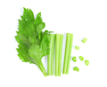 celery isolated on white background. top view - PhotoDune Item for Sale