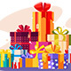Pile of Gifts in Colorful Packaging - GraphicRiver Item for Sale