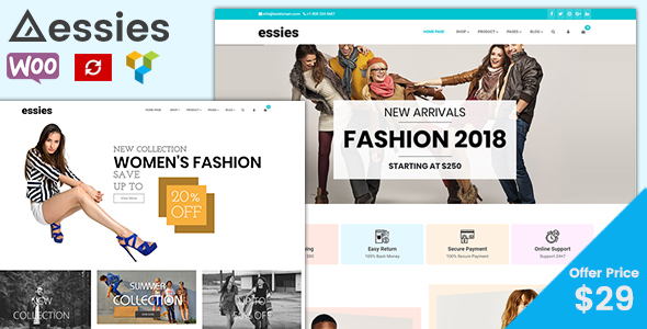 Essies - Modern Fashion WooCommerce Theme Free Download | Nulled