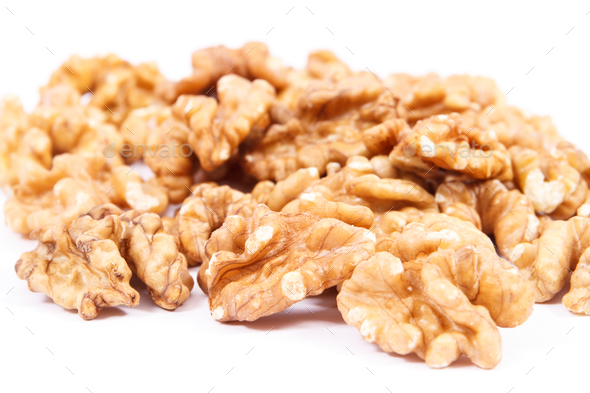 Walnuts as fruit containing iron, omega 3 acids, vitamins and minerals, healthy nutrition concept - Stock Photo - Images