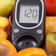 Glucometer for measuring sugar level and healthy nutritious food as source vitamins - PhotoDune Item for Sale