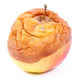 Old apple with mold on white background, unhealthy food - PhotoDune Item for Sale