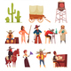 Cowboy Wild West Set - GraphicRiver Item for Sale