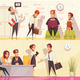 Employment Situations Banners Set - GraphicRiver Item for Sale