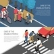 Disabled People Isometric Banners - GraphicRiver Item for Sale