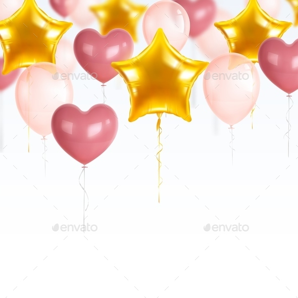 Party Balloons Composition - Miscellaneous Seasons/Holidays