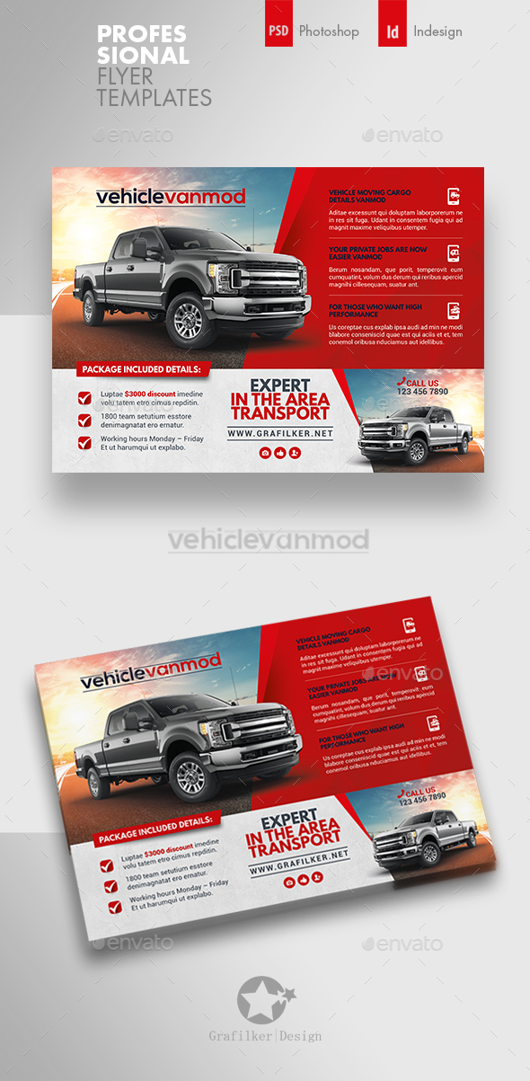 Commercial Vehicle Flyer Templates - Corporate Flyers