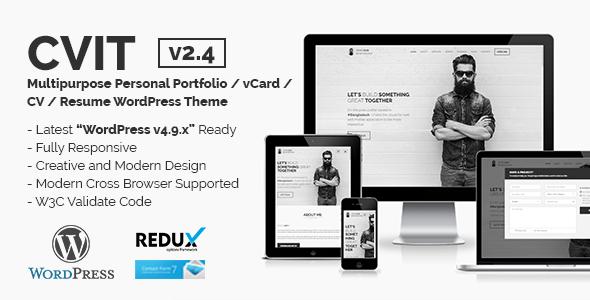 CVIT | Multipurpose Personal Portfolio / vCard / CV / Resume WordPress Theme - Portfolio Creative