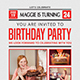 Newspaper Birthday Flyer - GraphicRiver Item for Sale