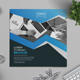 Blue Square Bi-fold Brochure - GraphicRiver Item for Sale