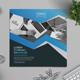 Blue Square Bi-fold Brochure - GraphicRiver Item for Sale