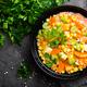 Healthy vegetarian vegetable soup with lentil and vegetables. Lentil soup with vegetables - PhotoDune Item for Sale