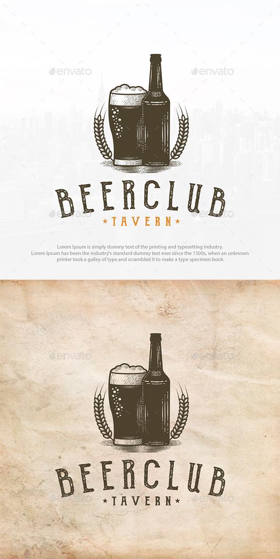 Beer Club Vintage Logo - Crests Logo Templates