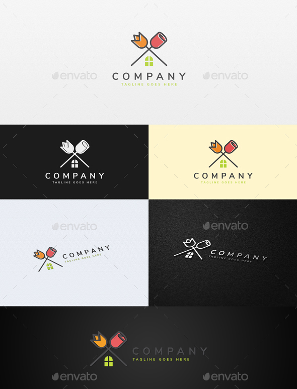 Flower House Logo - Nature Logo Templates