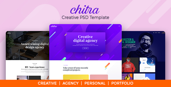 Chitra - Creative PSD Template - Creative PSD Templates