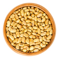 Roasted and salted soybeans in wooden bowl - PhotoDune Item for Sale