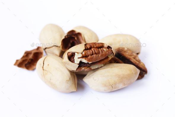 Natural Organic Pecans - Stock Photo - Images