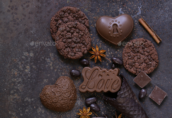 Chocolate Cookies and Candy - Stock Photo - Images