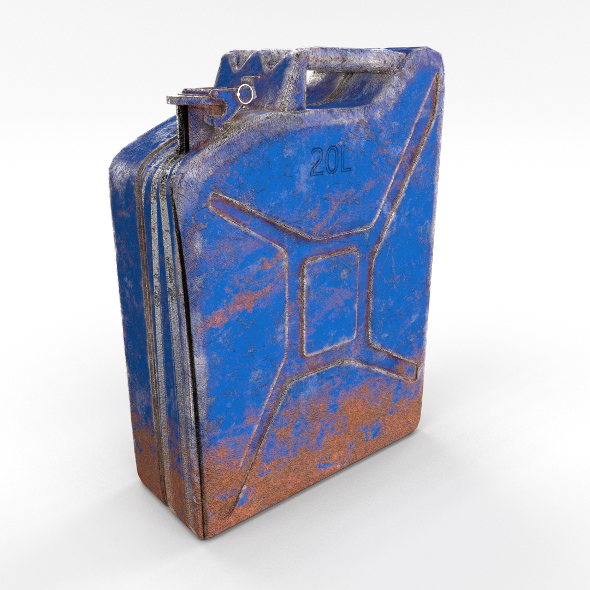 Jerry Can Weathered 3 PBR - 3DOcean Item for Sale
