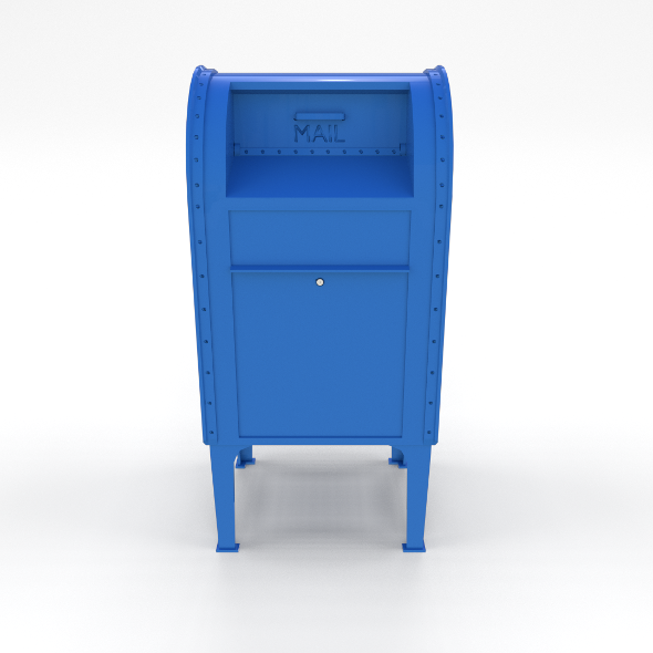Mailbox Lowpoly PBR - 3DOcean Item for Sale
