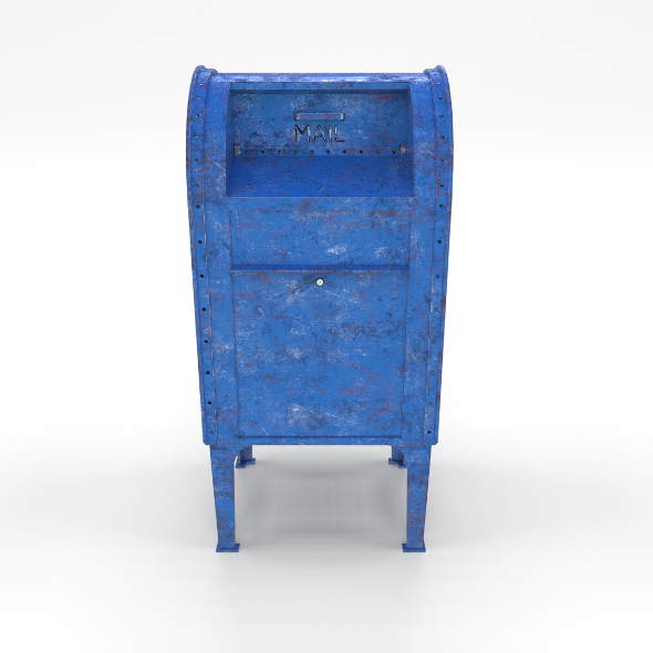 Mailbox Lowpoly Weathered 2 PBR - 3DOcean Item for Sale