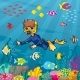 Diver Boy Undersea - GraphicRiver Item for Sale
