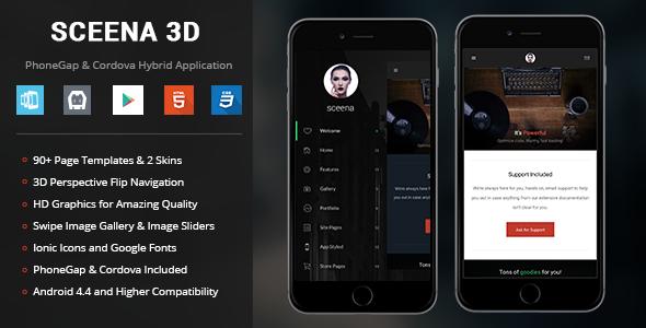 Sceena 3D | PhoneGap & Cordova Mobile App - CodeCanyon Item for Sale
