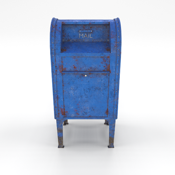 Mailbox Weathered PBR - 3DOcean Item for Sale