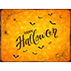Abstract Orange Halloween Background with Spiders - GraphicRiver Item for Sale
