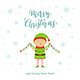 Christmas Light with Happy Elf - GraphicRiver Item for Sale