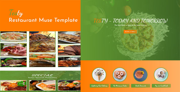 Testy-Restaurant Cafe Muse Template - Muse Templates