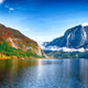 Sunny morning on the lake Altausseer See Alps Austria Europe - PhotoDune Item for Sale