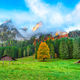 Beautiful view of idyllic colorful autumn scenery in Gosausee la - PhotoDune Item for Sale