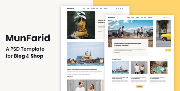 Munfarid - A PSD Template For Blog & Shop - Creative PSD Templates
