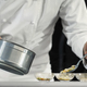 Chef cooking sea food in a restaurant - PhotoDune Item for Sale