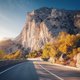 Mountain road and beautiful sky at sunset in autumn - PhotoDune Item for Sale
