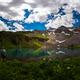Hiker looks at Blue Lake Ridgway Colorado - PhotoDune Item for Sale