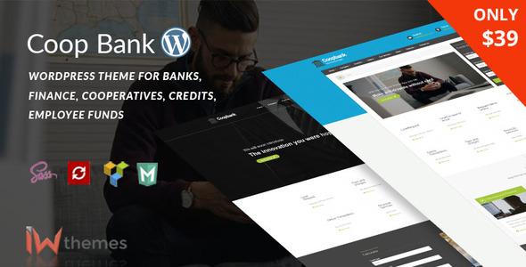 Financial , Banking & Credits WordPress Theme    CoopBank - Business Corporate