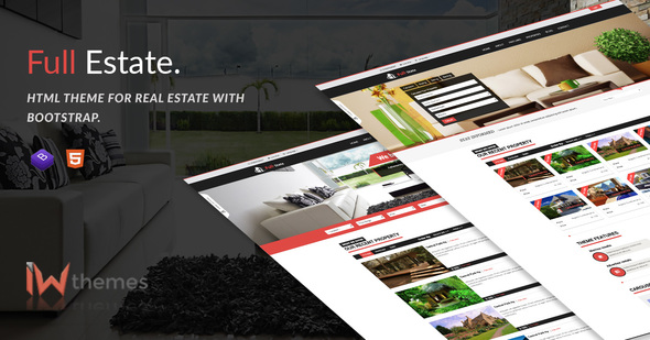 Full Estate - Responsive and Bootstrap Real Estate - Retail Site Templates