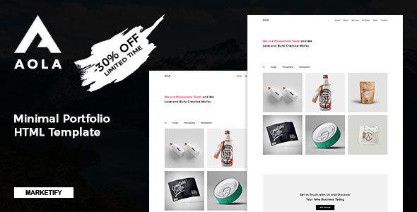 Aola | Minimalist Portfolio Template - Portfolio Creative