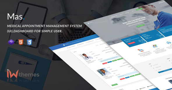 Medical Appointment Management System (UI),Dashboard for Simple User | Mas - Miscellaneous Site Templates