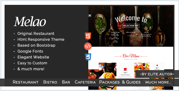 Bar, Bistro, Cafeteria, Bakery, Restaurant, Tavern, Inn | Melao Responsive Theme - Food Retail